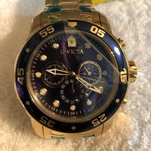 New Invicta 48mm Pro Diver Chronograph SS Bracelet